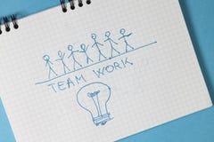 Concepto del valor - Team Work Fotografía de archivo