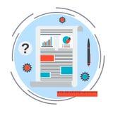 Concepto del vector de la carta de negocio Imagen de archivo libre de regalías