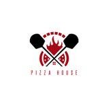Concepto del vector de la casa de la pizza con el horno libre illustration