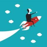 Concepto del vector de la puesta en marcha del negocio en estilo plano de la historieta Foto de archivo libre de regalías