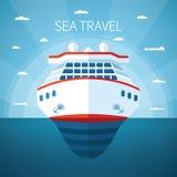 Concepto del vector de la travesía del mar Imagen de archivo libre de regalías