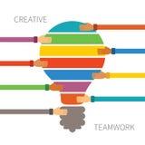 Concepto del vector de trabajo en equipo creativo Foto de archivo libre de regalías