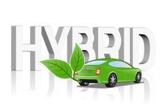 Concepto del vehículo híbrido stock de ilustración