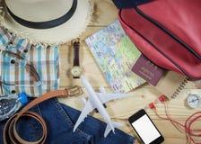 Concepto del viaje con el accesorio Imágenes de archivo libres de regalías