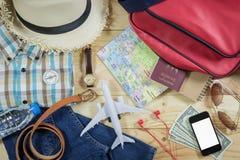Concepto del viaje con el accesorio Fotografía de archivo libre de regalías
