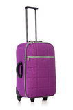 Concepto del viaje con el suitacase del equipaje aislado Imagen de archivo libre de regalías