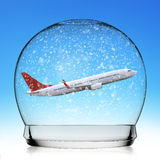 Concepto del viaje de la bola de nieve Foto de archivo libre de regalías