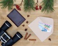Concepto del viaje de la Navidad Foto de archivo libre de regalías