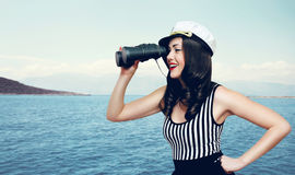 Concepto del viaje, de la travesía, del turismo y de la aventura Foto de archivo