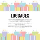 Concepto del viaje de muchos equipajes Fotografía de archivo libre de regalías