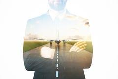 Concepto del viaje de negocios fotografía de archivo