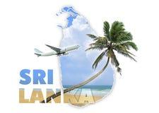 Concepto del viaje de Sri Lanka Foto de archivo libre de regalías