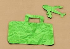 Concepto del viaje del diseño del corte del papel Fotografía de archivo