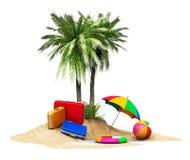 Concepto del viaje, del turismo y de las vacaciones ilustración del vector