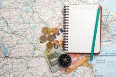 Concepto del viaje, planeamiento del viaje Imagenes de archivo