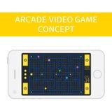Concepto del videojuego de la arcada Imagen de archivo