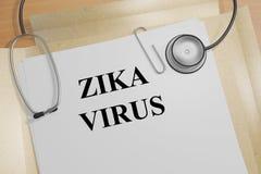 Concepto del virus de Zika Imagen de archivo