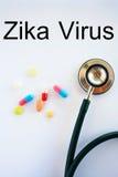 Concepto del virus de Zika Imagen de archivo libre de regalías