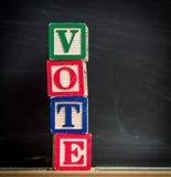 Concepto del voto Imágenes de archivo libres de regalías
