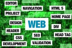 Concepto del Web Foto de archivo