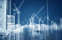 Concepto del wireframe de la construcción ilustración del vector