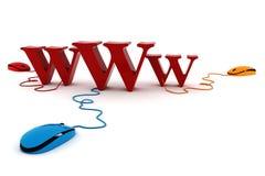 concepto del World Wide Web 3d Fotografía de archivo