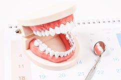 Concepto dental de la cita Fotos de archivo