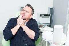 Concepto dental de la fobia Foto de archivo libre de regalías