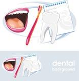 Concepto dental. Icono y bandera para el diseño Imagenes de archivo