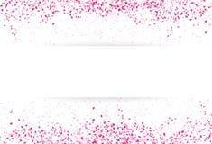 Concepto descendente de la plantilla de la bandera del pétalo de las hojas del rosa de la dispersión de Sakura ilustración del vector
