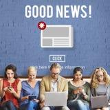 Concepto diario del aviso del hoja informativa de las noticias de las mercancías Fotos de archivo libres de regalías