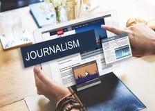Concepto diario global del contenido de las noticias del medios periodismo imagen de archivo libre de regalías