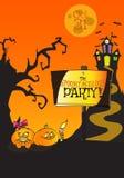Concepto dibujado mano del folleto del partido de Halloween Spooktaculous Ilustración del Vector