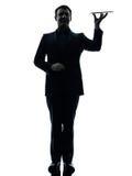 Concepto digital de la ayuda de la tableta del hombre de negocios Imagenes de archivo