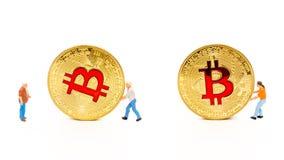 concepto digital de los crytocurrencies del blockchain de la moneda Fotos de archivo
