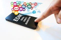 Concepto directo del márketing del correo electrónico Foto de archivo libre de regalías