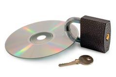 Concepto: disco asegurado de los datos Imagen de archivo