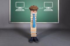Concepto divertido de la educación de la inteligencia artificial fotos de archivo