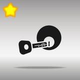 Concepto dominante negro del símbolo del logotipo del botón del icono de alta calidad Fotos de archivo libres de regalías