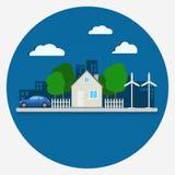 Concepto ecológico de la ciudad Imágenes de archivo libres de regalías