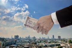 Concepto económico de la inyección de capital Imagen de archivo libre de regalías