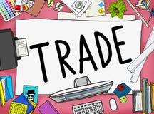 Concepto económico del comercio de la negociación comercial del intercambio Fotos de archivo libres de regalías