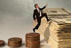 Concepto económico y de la bolsa del éxito Imagenes de archivo