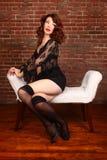 Concepto editorial con una mujer hermosa Foto de archivo libre de regalías