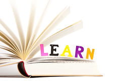 Concepto educativo de la lectura Fotografía de archivo