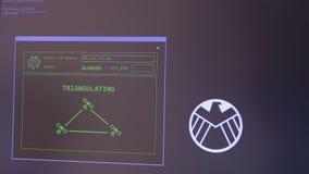 Concepto el cortar y de la tecnología Seguimiento de la dirección IP del ` s del killesr con el GUI basuic visual metrajes