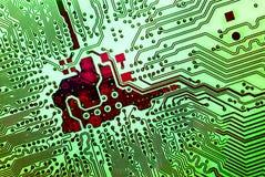 Concepto electrónico de las tecnologías Imagen de archivo