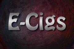 Concepto electrónico del cigarrillo imagen de archivo libre de regalías