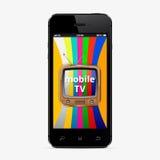Concepto elegante móvil de la TV Foto de archivo libre de regalías