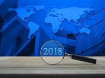 Concepto 2018, elementos de la Feliz Año Nuevo del negocio de esta piel de la imagen Foto de archivo libre de regalías